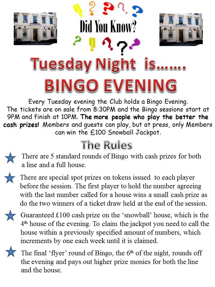 Bingo Night promotion