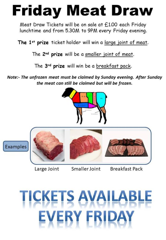 Image result for meat draw tickets